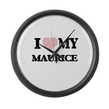 I Love my Maurice (Heart Made fro Large Wall Clock