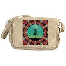 Disc Golf Abstract Basket 6 Messenger Bag