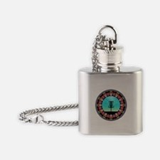Disc Golf Abstract Basket 6 Flask Necklace