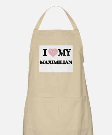 I Love my Maximilian (Heart Made from Love m Apron