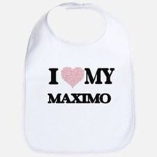 I Love my Maximo (Heart Made from Love my word Bib