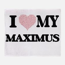 I Love my Maximus (Heart Made from L Throw Blanket