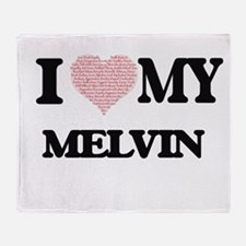 I Love my Melvin (Heart Made from Lo Throw Blanket