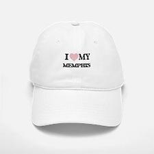 I Love my Memphis (Heart Made from Love my wor Baseball Baseball Cap