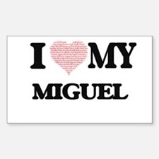 I Love my Miguel (Heart Made from Love my Decal