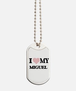 I Love my Miguel (Heart Made from Love my Dog Tags