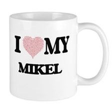 I Love my Mikel (Heart Made from Love my word Mugs