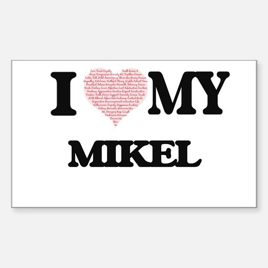 I Love my Mikel (Heart Made from Love my w Decal