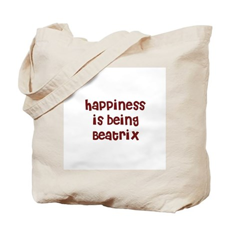 happiness is being Beatrix Tote Bag