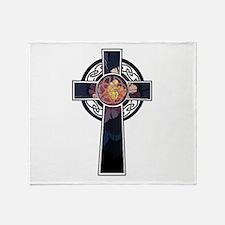 Flowered Cross-02 Throw Blanket