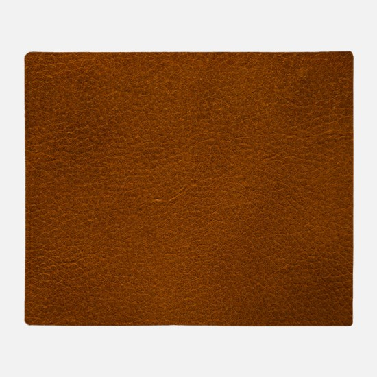 BROWN LEATHER Throw Blanket