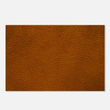 BROWN LEATHER Postcards (Package of 8)