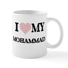 I Love my Mohammad (Heart Made from Love my w Mugs