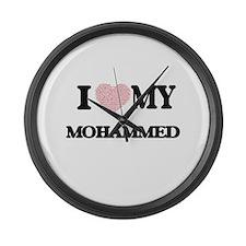 I Love my Mohammed (Heart Made fr Large Wall Clock