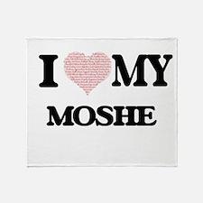 I Love my Moshe (Heart Made from Lov Throw Blanket