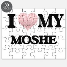 I Love my Moshe (Heart Made from Love my wo Puzzle