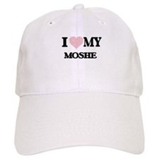 I Love my Moshe (Heart Made from Love my words Baseball Cap