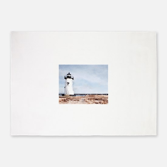 Edgartown Lighthouse 5'x7'Area Rug