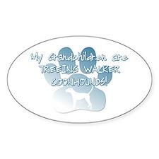 TW Coonhound Grandchildren Oval Decal