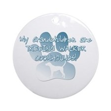 TW Coonhound Grandchildren Ornament (Round)