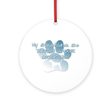 TW Coonhound Grandchildren Ornament (Round)