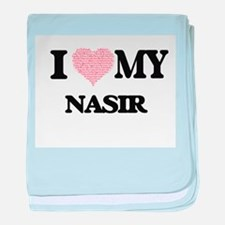 I Love my Nasir (Heart Made from Love baby blanket