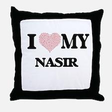 I Love my Nasir (Heart Made from Love Throw Pillow
