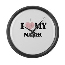 I Love my Nasir (Heart Made from Large Wall Clock