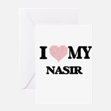 I Love my Nasir (Heart Made from Lo Greeting Cards