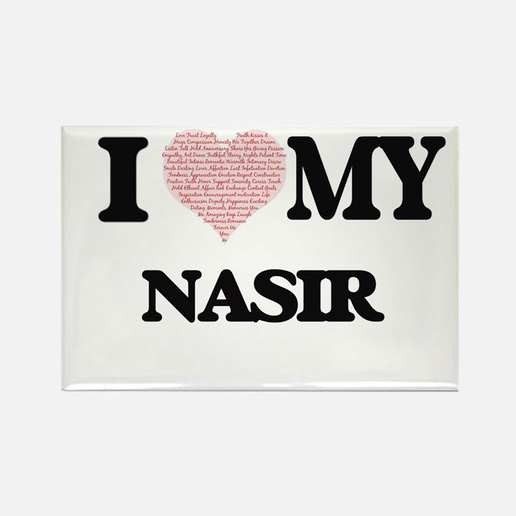 I Love my Nasir (Heart Made from Love my w Magnets