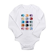 Unique Lamb Long Sleeve Infant Bodysuit