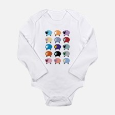 Cute Sheep Long Sleeve Infant Bodysuit