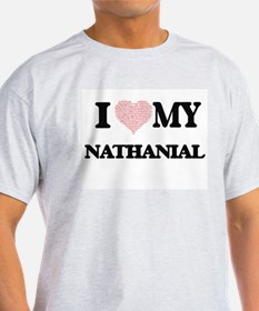 I Love my Nathanial (Heart Made from Love T-Shirt