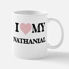 I Love my Nathanial (Heart Made from Love my Mugs
