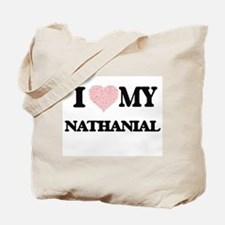 I Love my Nathanial (Heart Made from Love Tote Bag