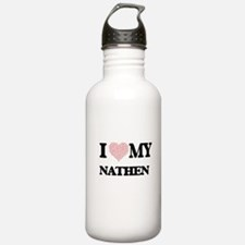 I Love my Nathen (Hear Water Bottle