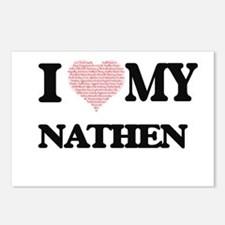 I Love my Nathen (Heart M Postcards (Package of 8)