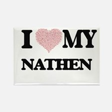 I Love my Nathen (Heart Made from Love my Magnets