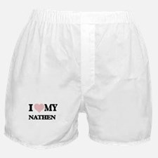 I Love my Nathen (Heart Made from Lov Boxer Shorts