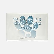 Tw Coonhound Granddog Rectangle Magnet (10 pack)