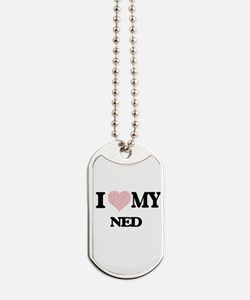 I Love my Ned (Heart Made from Love my wo Dog Tags