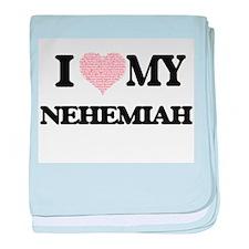 I Love my Nehemiah (Heart Made from L baby blanket