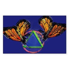 Recovery Butterfly Rectangle Decal