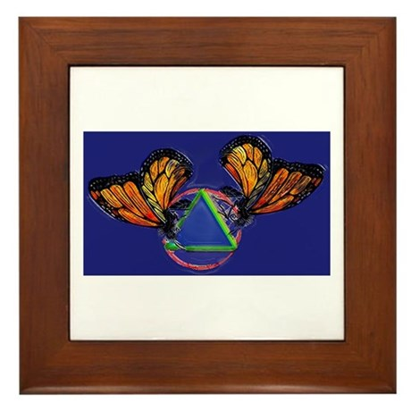 Recovery Butterfly Framed Tile