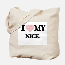 I Love my Nick (Heart Made from Love my w Tote Bag