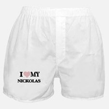 I Love my Nickolas (Heart Made from L Boxer Shorts