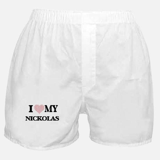 I Love my Nickolas (Heart Made from L Boxer Shorts