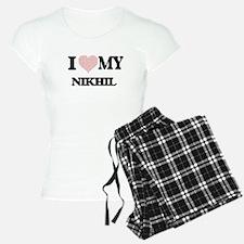 I Love my Nikhil (Heart Mad Pajamas