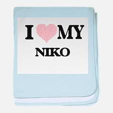 I Love my Niko (Heart Made from Love baby blanket