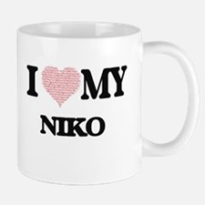 I Love my Niko (Heart Made from Love my words Mugs